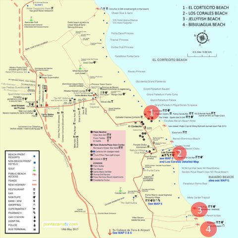 Map Of Punta Cana Beaches